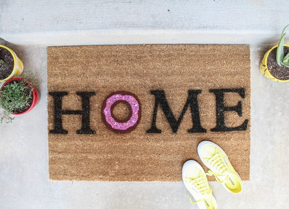 Diy-donut-door-mat