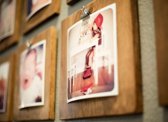 Rustic photo display