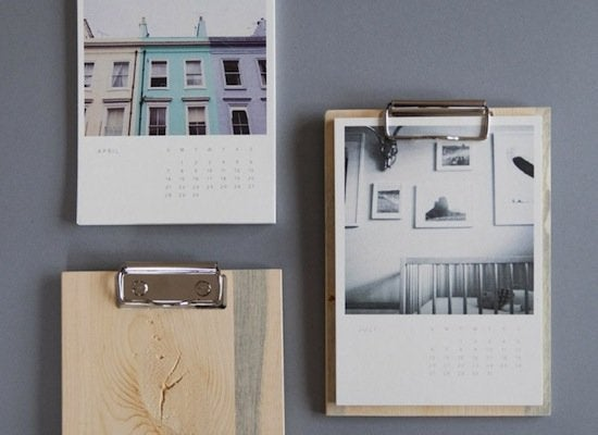 Wood photo calendar