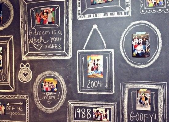 Blackboard_washi_tape_gallery_wall