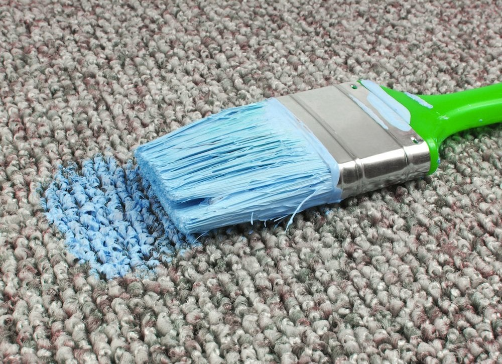 Paint carpet