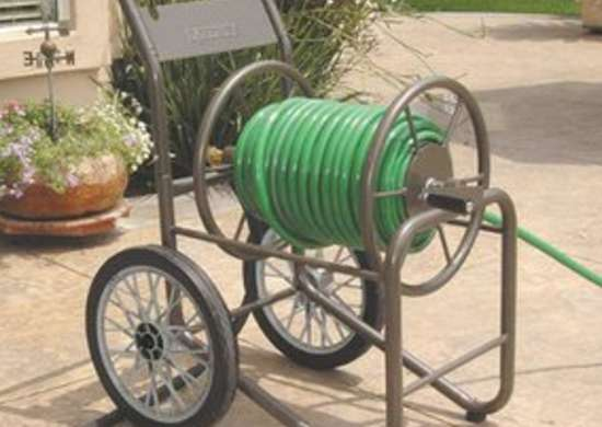 Hose Reel Cart Garden Hose Storage 8 Stylish Solutions Bob Vila