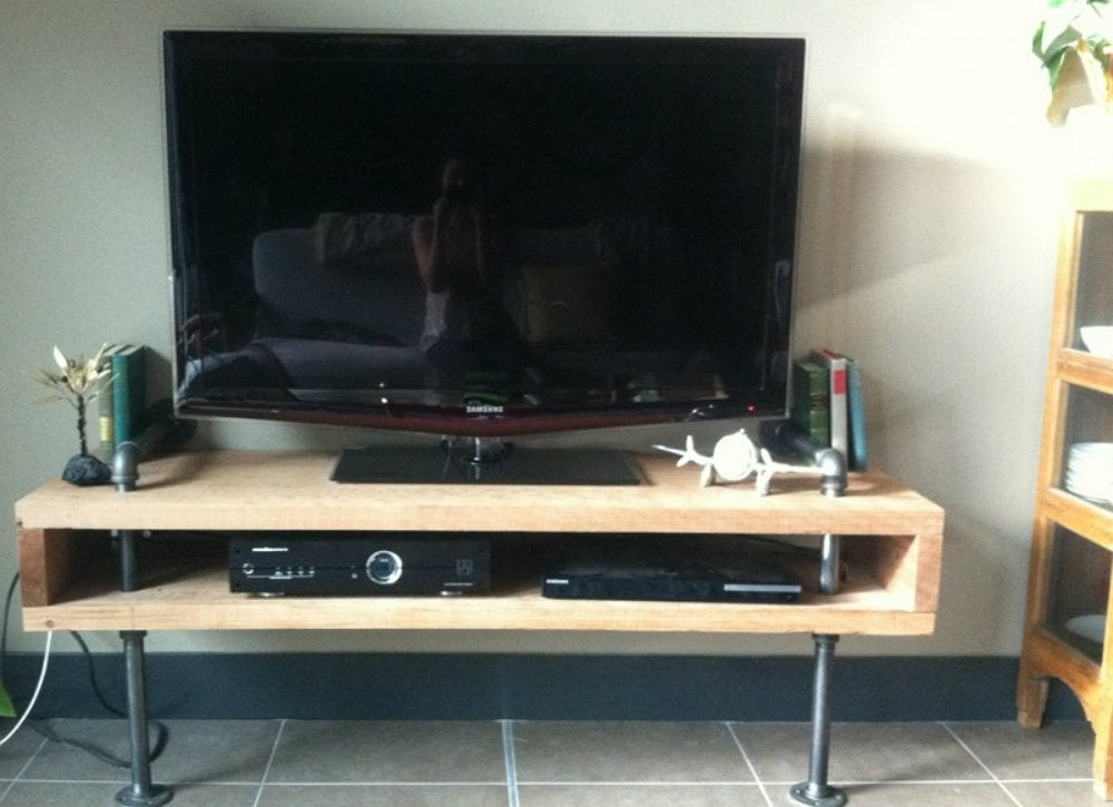Diy tv stand 10 doable designs bob vila Design your own tv room