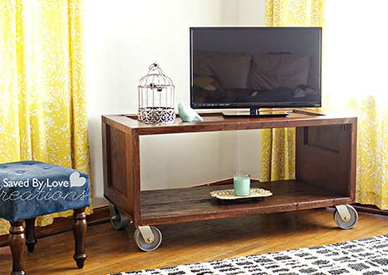 Upcycled Door TV Stand