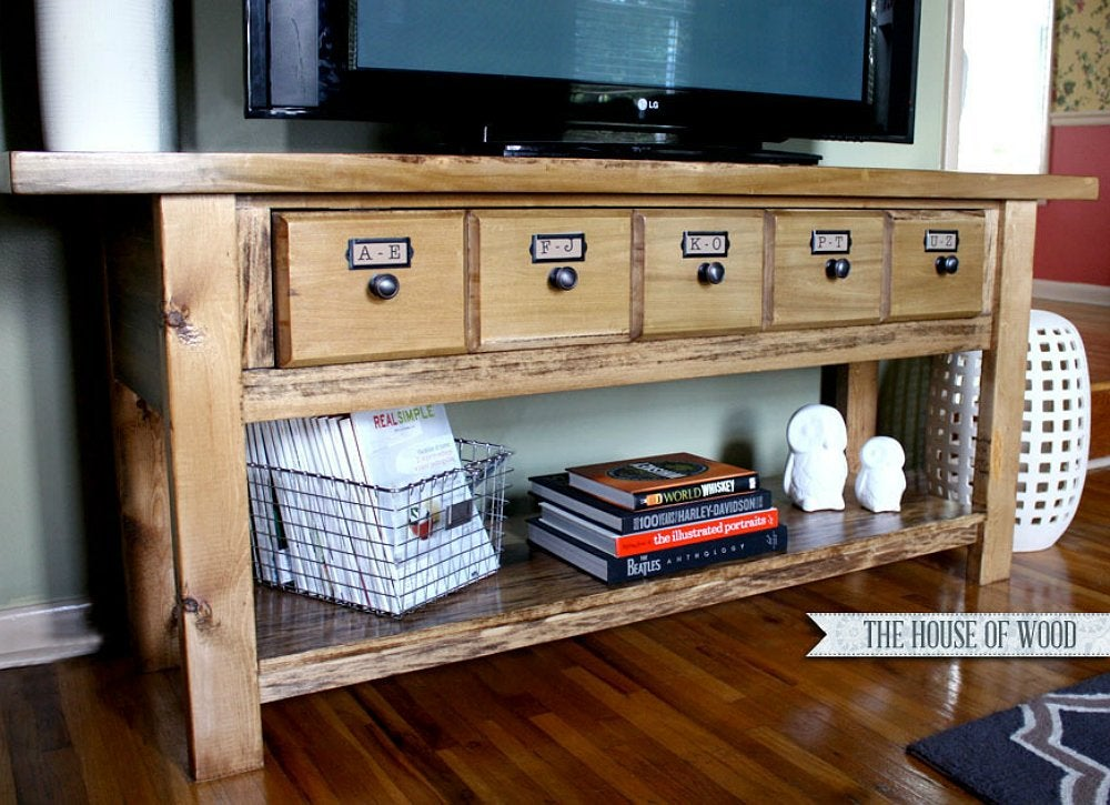 Wooden Entertainment Center Diy Tv Stand 10 Doable