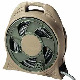 Garden Hose Storage Ideas build a garden hose storage with planter Cassette Hose Reel With Green Hose