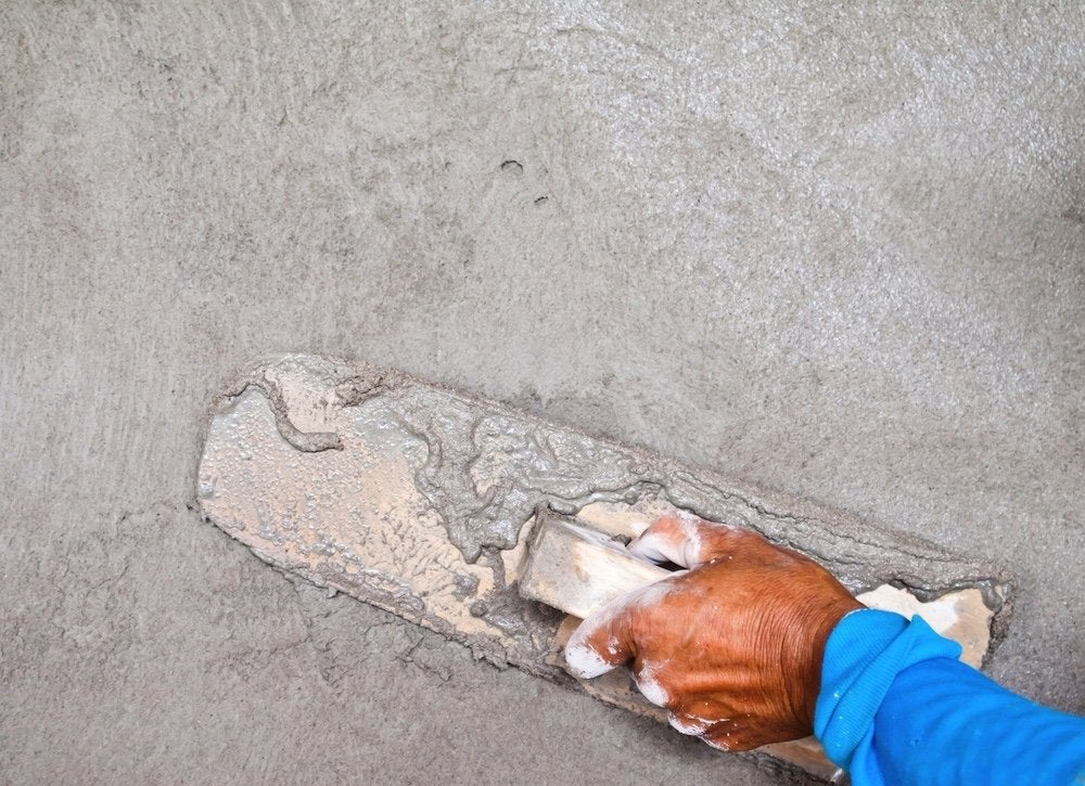 Foundation-plastering