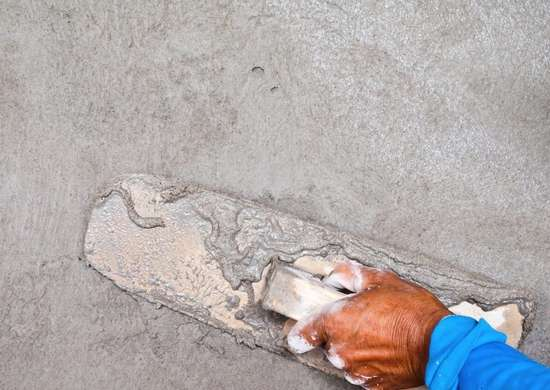 Foundation plastering