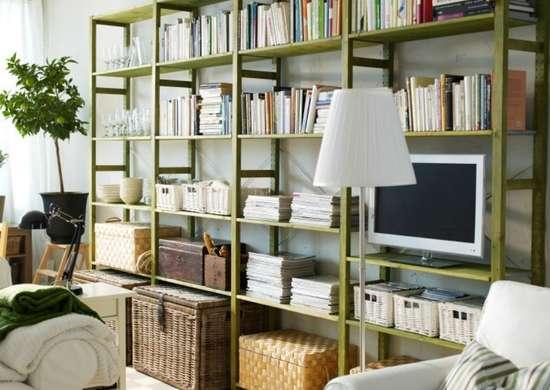 Tv in bookshelves