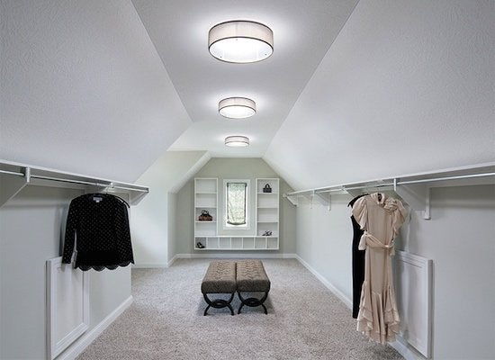 Tubular skylight walk in closet