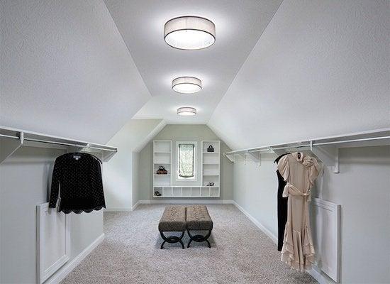Tubular skylight walk in closet