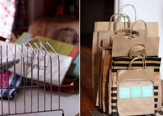 Creative ways to use office supplies   bag organizer