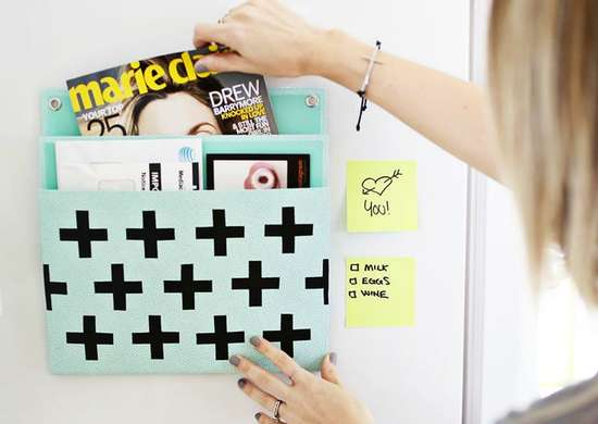 Creative ways to use office supplies   mail organizer