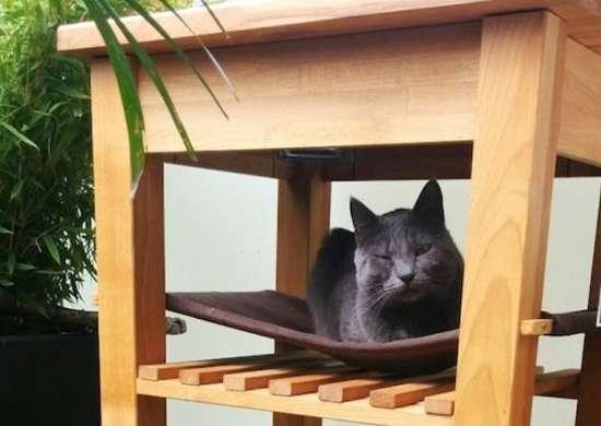 Cat hammock ikea hack
