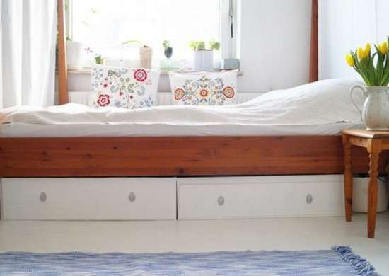 Ikea hack bed storage