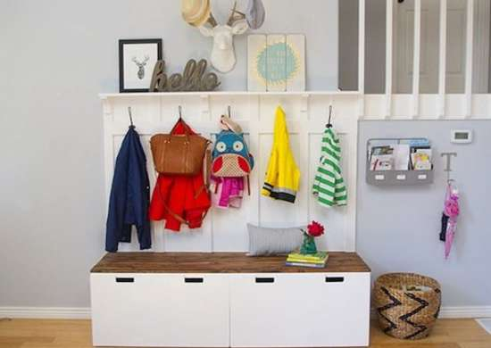 Ikea hack entryway storage