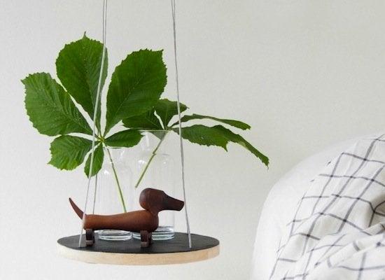Ikea hack hanging bedside table