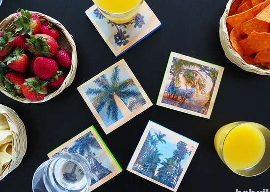 Diy photo coasters slideshow