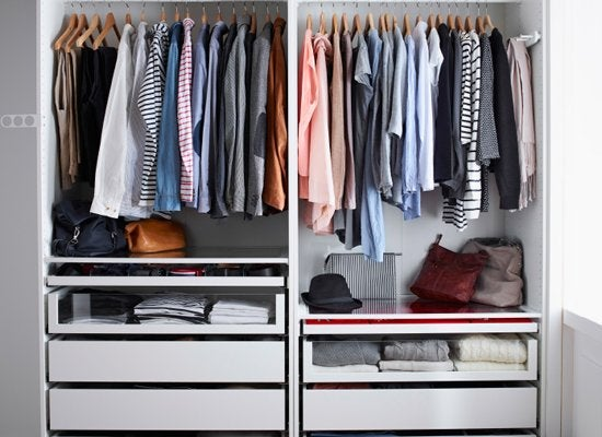 Organize with color   closet