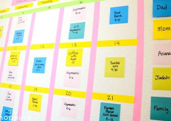 Organize with color   calendar