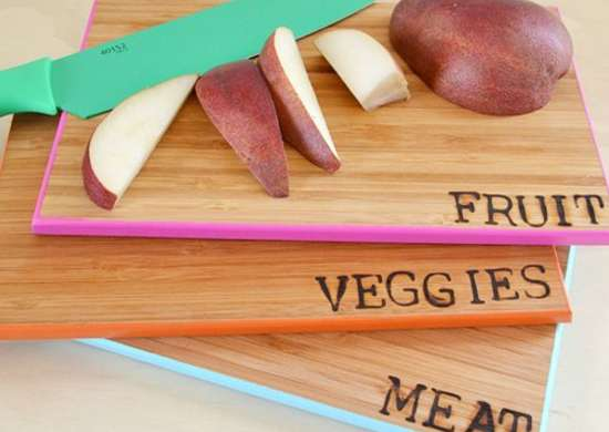 Organize with color   cutting boards