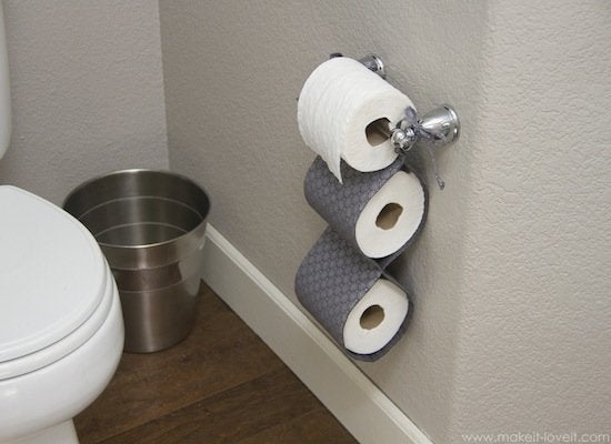 Diy toilet paper roll