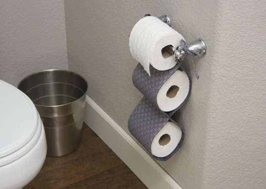 Toilet Paper Roll Holder Bathroom Organizers 10 Small