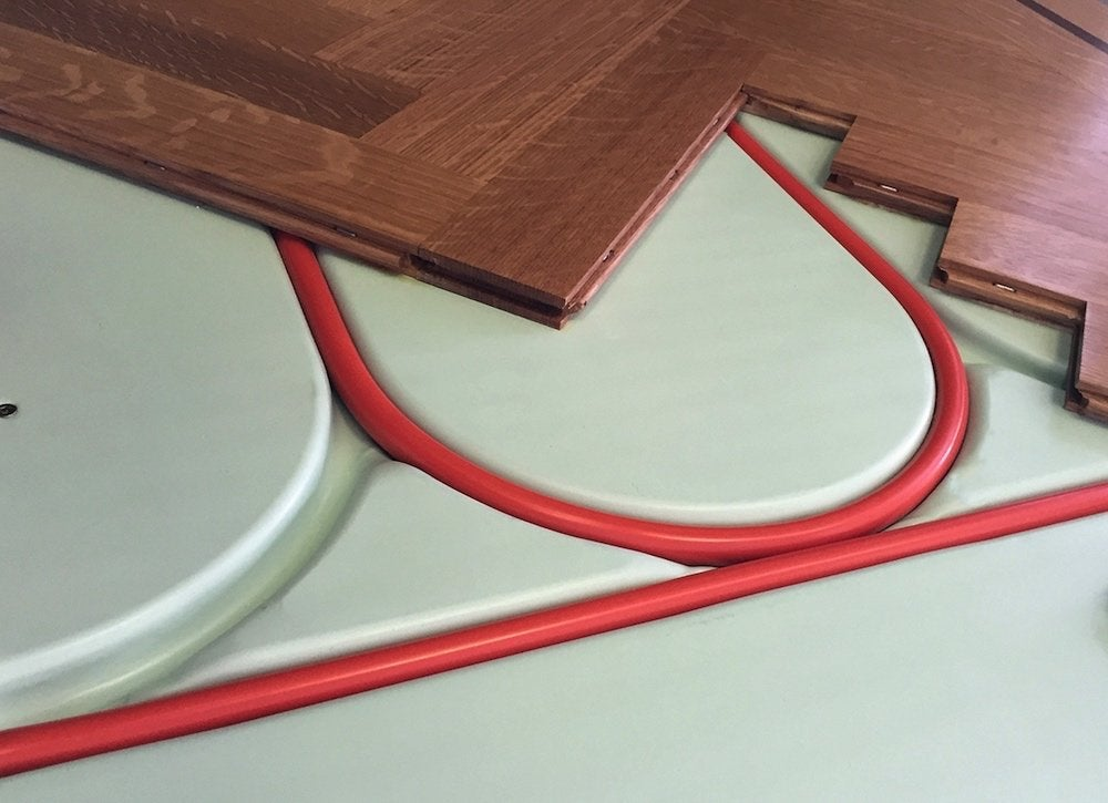 Radiant heat panel hardwood