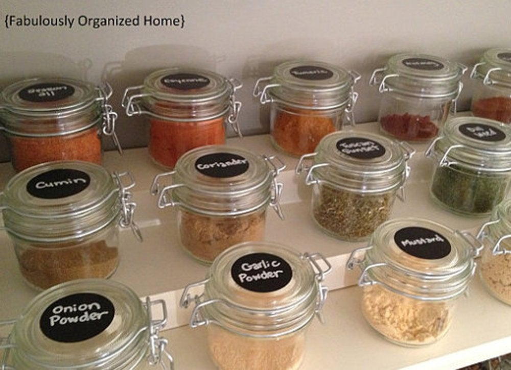 Pantry organizers   chalkboard labels