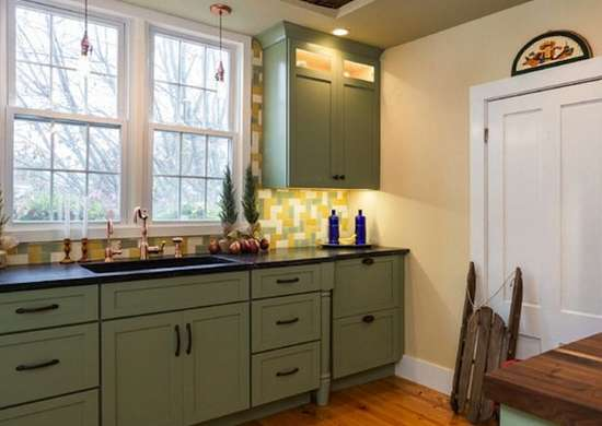 Beige and Green Kitchen