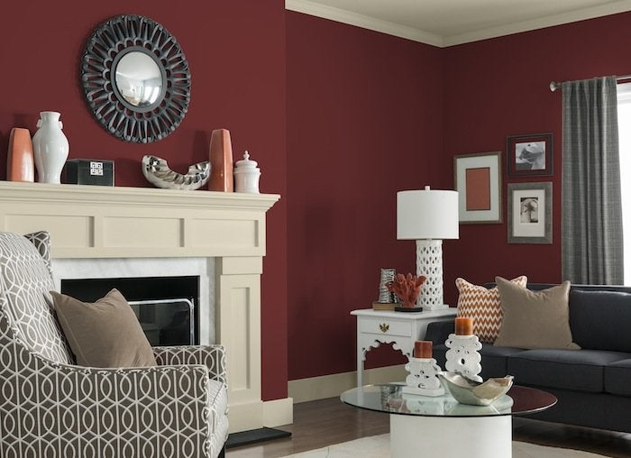 California claret red glidden paint