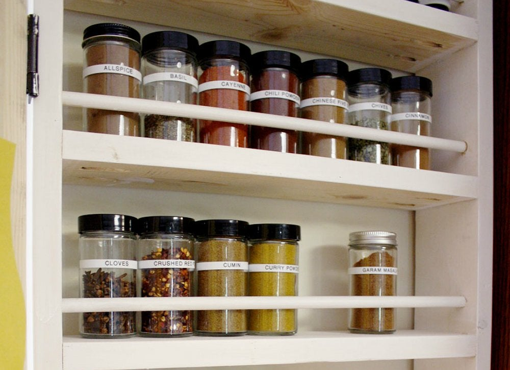 In door pantry spice storage