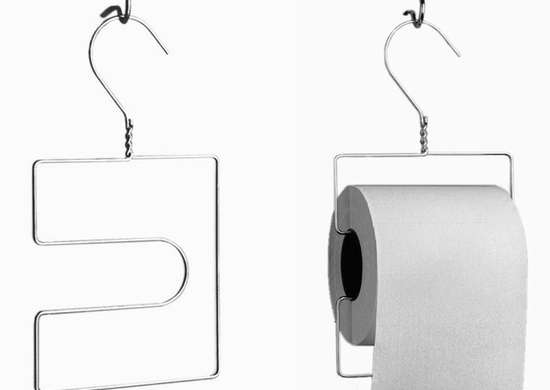 Diy Toilet Paper Holder Wire Hangers 9 Clever