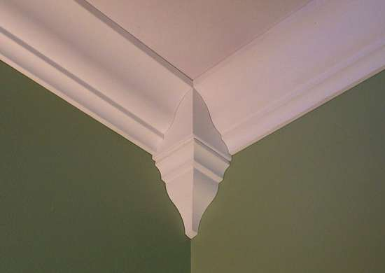 Crown molding corner blocks