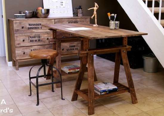 Kitchen table trestle