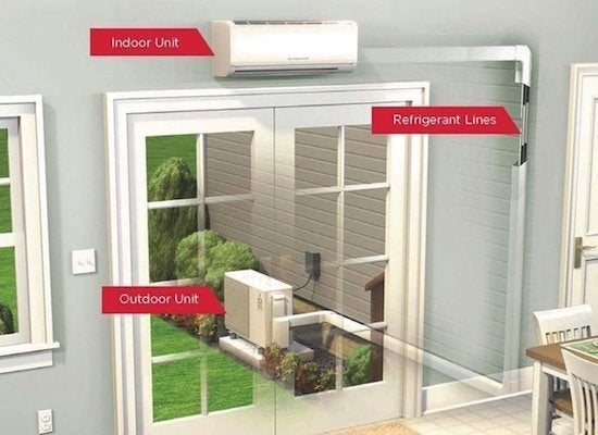 Ductless mini split diagram