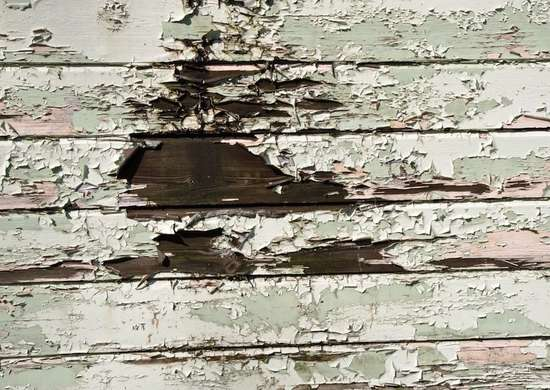 Rotten wood house siding