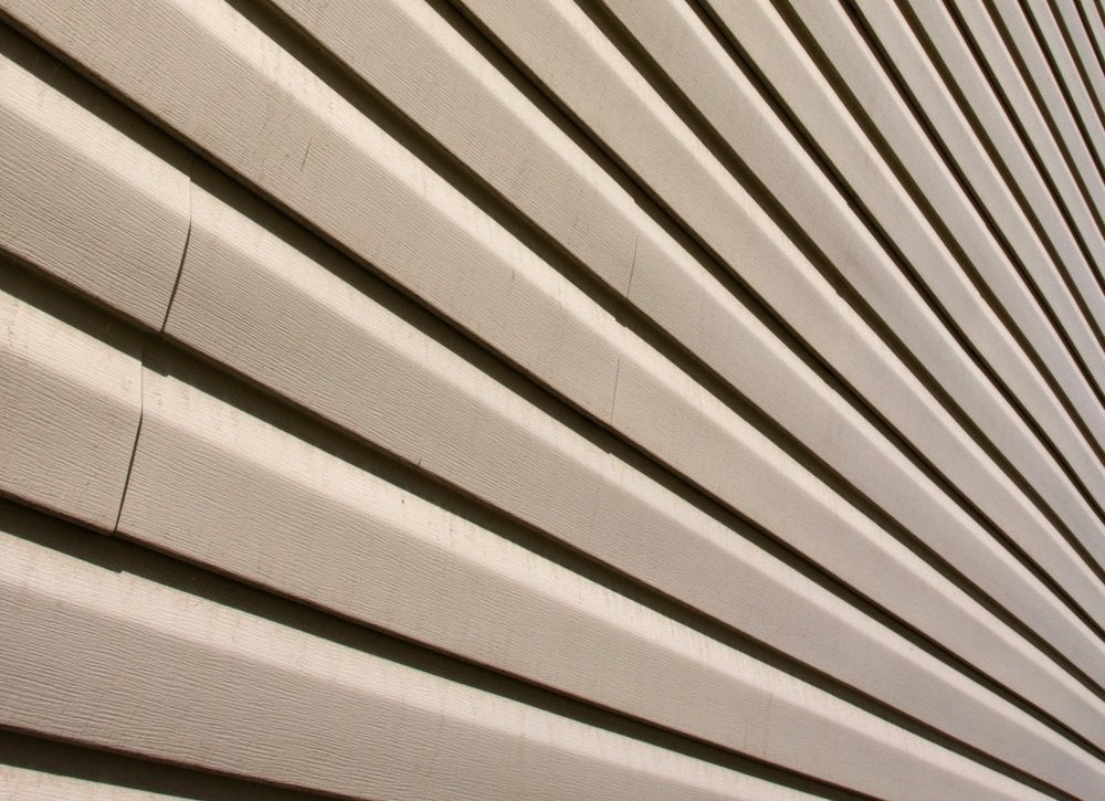 Warped house siding