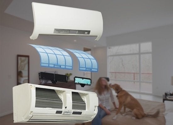 Ductless hvac air quality