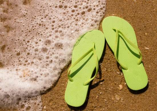 Wipe off sand with dryer sheets