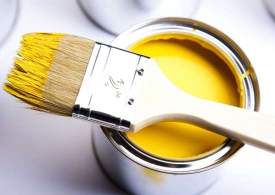 Clean off paint brushes with dryer sheets