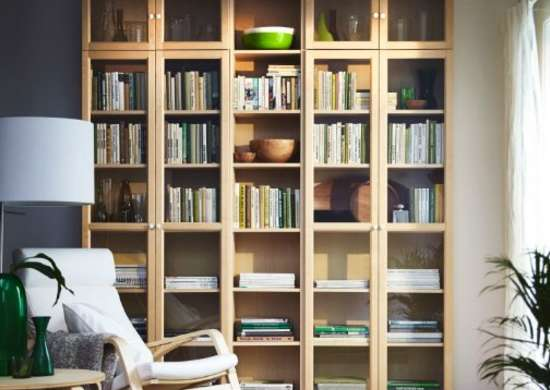 Super tall bookshelves