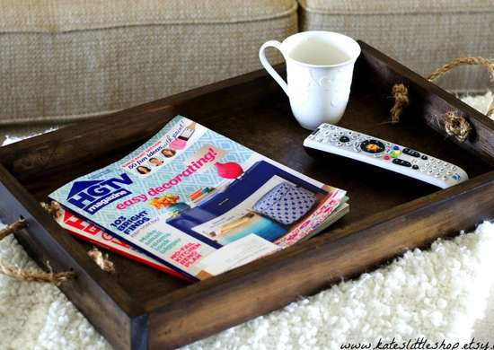 Decluttering Tips - Coffee Table Tray