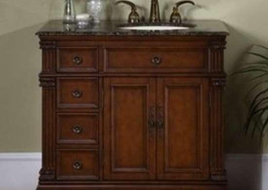 Silkroadexclusives esther single sink cabinet bathroom vanity