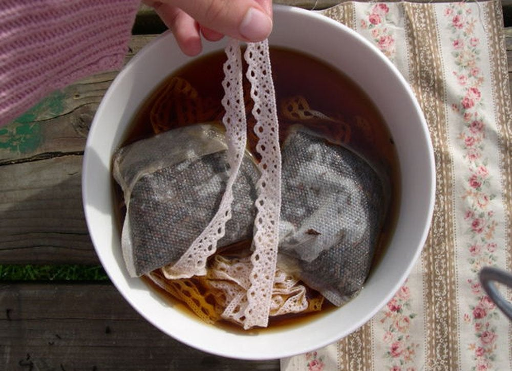 Uses for tea bags   fabric dye