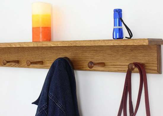 Peg rail home organization