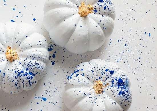 Splatter Paint Pumpkin
