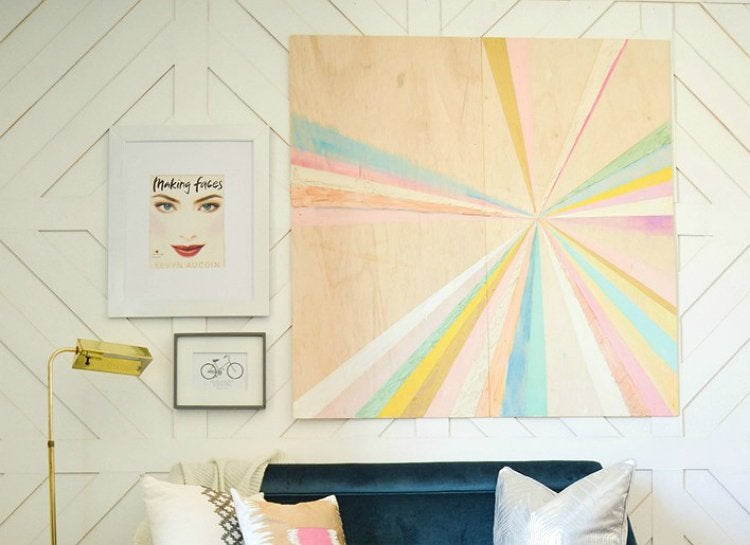 Painted plywood wall art