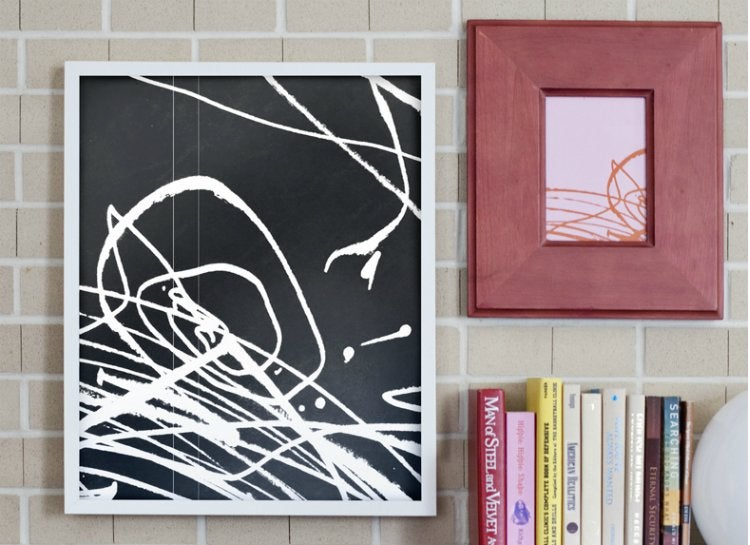 Scribbles wall art