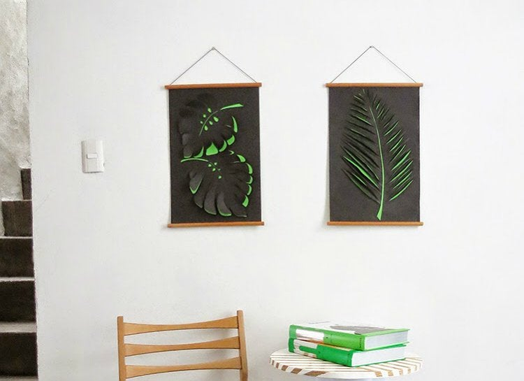 Paper cut outs wall art